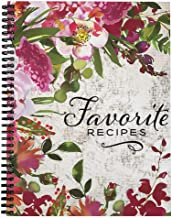 "Softcover Favorite Recipes 8.5"" x 11"" Spiral Recipe Notebook/Journal, 120 Recipe Pages, Durable Gloss Laminated Cover, Bla..."