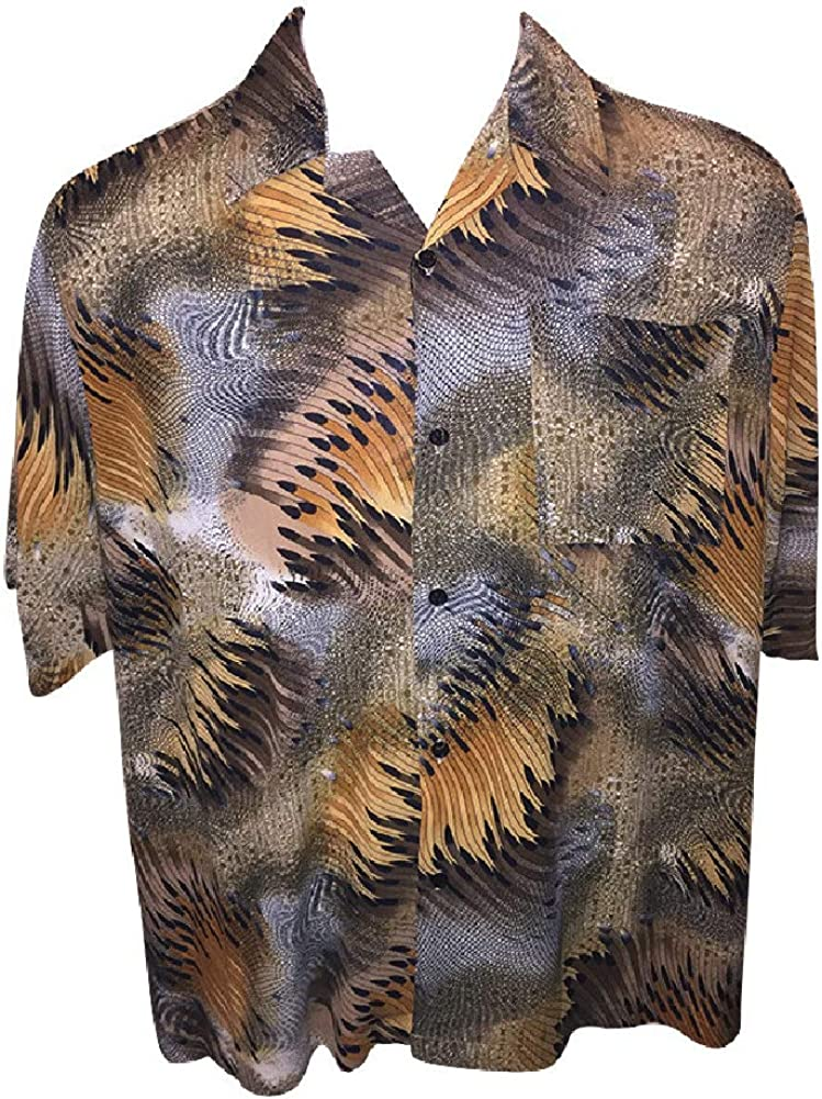 Big and Tall Super Lightweight Funky Jungle Style Shirts to 8X Made in USA