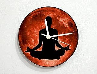 Yoga Meditation - Chakra Energy Chi Balance - Spiritual Healing - Universe Stars Space Galaxy Solar Planet - Custom Name Wall Clock