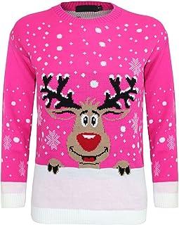 SCB Online Childrens Kids Boys Girls 3D Knitted Retro Novelty Christmas Xmas Jumper 3-12 Years