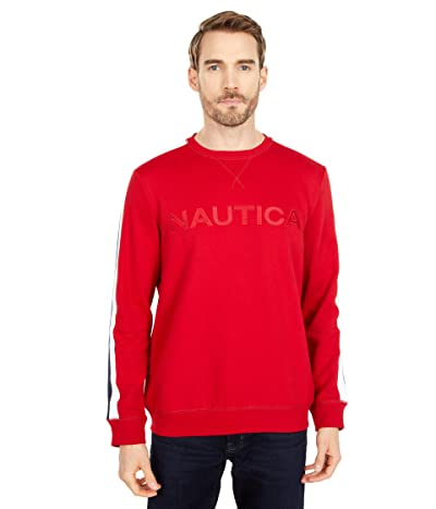 Nautica Logo Fleece Sweatshirt (Red) Men