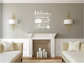 Yilooom Autumn is A Second Spring When Every Leaf is A Flower, Vinyl Wall Decal, Fall Decal, Fall Decor, Autumn Decor, Pumpkin Decal 32 Inch in Width