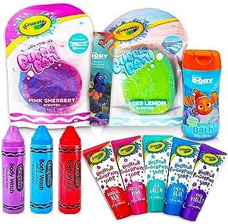 Crayola Bath Super Set - 5 Crayola Bath Paint Soap Tubes, 5 Bath Pens, 3 Bubble Bath Tubes (13 Pc Set)
