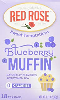 Red Rose Blueberry Muffin Tea, 18 ct(pack of 2)