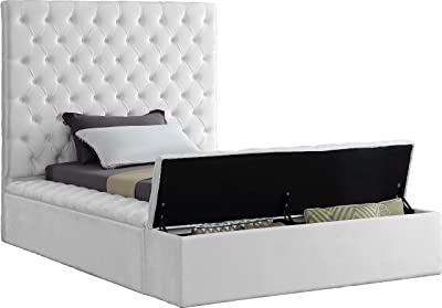 Amazon com: Poundex F9250Q Queen Bed with High Headboard