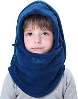 Miracu Children's Lightweight Balaclava Winter Hat, Thick Windproof Soft Warm Fleece Kids Ski Cap Face Mask Winter Hood for Outdoor Sports