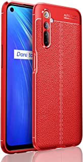 Wuzixi Case for Realme 6.Soft Silicone Sleeve Design, Shockproof and Durable, Cover Case for Realme 6.Red