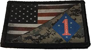 USMC 1st Marine Division USA Flag Morale Patch Tactical Military. 2x3