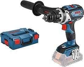 Bosch Professional GSR 18V-85 C Atornillador, 47/85/110 Nm, diámetro máximo tornillo 12mm, Conectable, sin batería, en L-BOXX, 18 W, 18 V, Azul