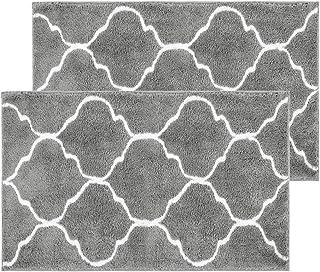"""HiiARug Non-Slip Indoor Outdoor Doormat 21""""x34"""" 2 Pack Absorbent Machine Washable Rubber Backing Door Mat Low-Profile Insi..."""