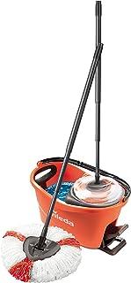 Vileda Turbo EasyWring & Clean Kit complet serpillère et seau avec essoreuse Corail