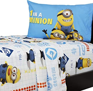 Despicable Me One in a Minion 4 Piece Full Sheet Set