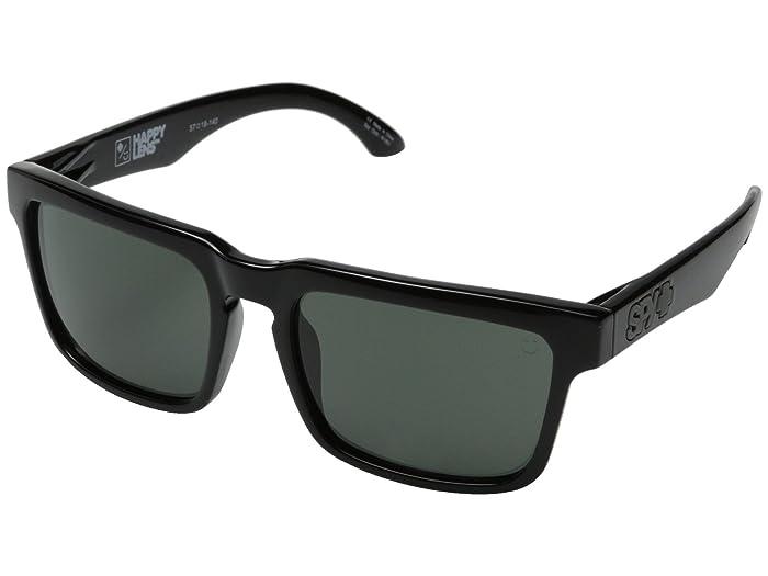 Spy Optic Helm (Black/HD Plus Gray Green) Fashion Sunglasses
