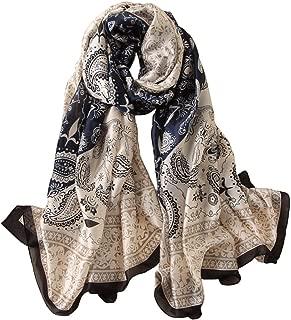 Alice Women Classy Silky Satin Paisley Print Long Scarf Shawls Wraps