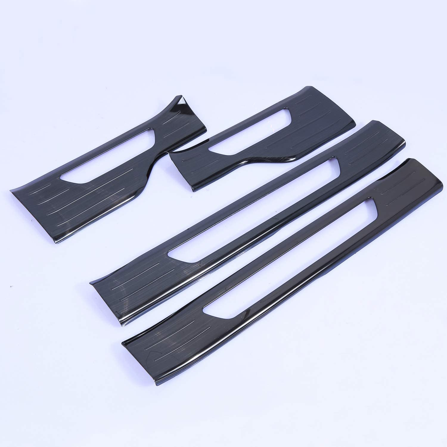 Wotefusi Black Door Sill Scuff Plate Trims Set Guards Regular Chicago Mall discount for