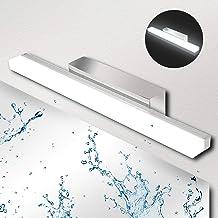 Ketom Led-spiegellamp, 9 W, IP44, wandlamp, spiegellamp, neutraal wit, 4000 K led-spiegellamp, 900LM, roestvrij staal, voo...