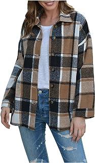 Adini mélange laine bouclette Manteau À Manches Longues Boutonné Devant Poches Latérales à col XL