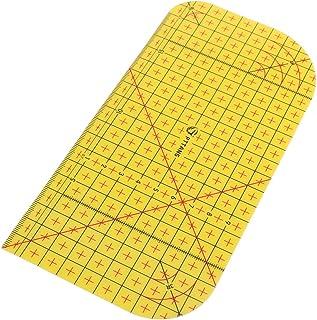 Régua de costura da Nuobesty, material de costura para costura de materiais de passar a ferro, régua de medição de ferrame...