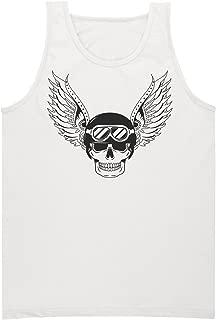Skull With Wings and Pilot Helmet Men's Tank Top Shirt