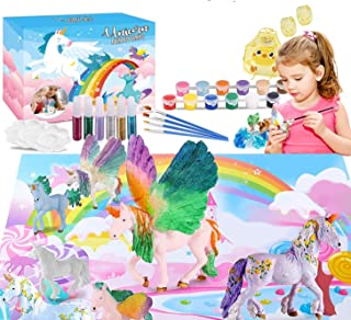 Umatrix Unicorn Paint Your Own Unicorn Painting Kit, Unicorns Paint Craft for Kids, Unicorn Party Favor Art Supplies DIY K...