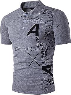 Mens Casual Denim Stitching Pocket Polo Shirt Short Sleeve T-Shirt Tops JZA008