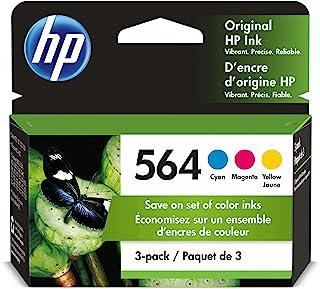 HP 564 Cyan, Magenta & Yellow Original Ink, 3 Cartridges (N9H57FN)