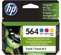 HP 564 | 3 Ink Cartridges | Cyan, Magenta, Yellow | For HP DeskJet 3500 Series, HP OfficeJet 4600 5500 C6300 6500 7500 Ser...