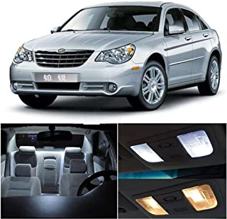 SCITOO 15Pcs White Interior LED Light Package Kit Replacement Bulbs Fits for Chrysler Sebring 2006-2010