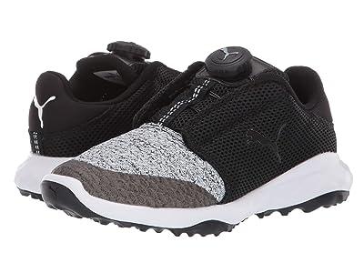 PUMA Golf Grip Fusion Sport Jrs Disc (Little Kid) (Puma Black/Quarry) Golf Shoes