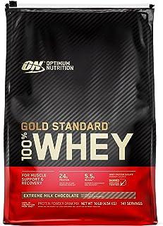 OPTIMUM NUTRITION GOLD STANDARD 100% Whey Protein Powder, Extreme Milk Chocolate, 10 Pounds