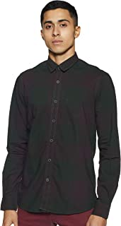 Arrow Jeans Men's Checkered Slim Fit Casual Shirt