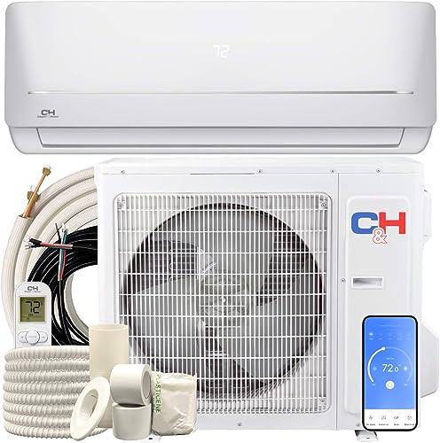 Cooper & Hunter 24,000 BTU, 230V, 17 SEER Ductless Mini Split AC/Heating System WiFi Pre-Charged Inverter Heat Pump w...