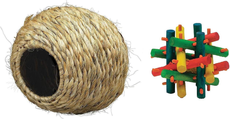 Kaytee Grassy RollANest Mini Nut Knot Nibbler Bundle