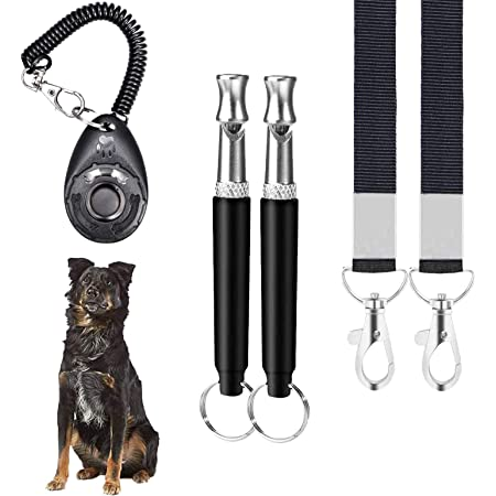 BACKK Professional Dog Whistles to Stop Barking,Training Clicker,Trasonic Silent Adjustable Frequencies 2Pack Effective Way of Training Whistle Dog Whistle for Recall Training