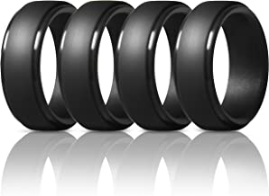 ThunderFit Silicone Rings for Men – 7 Rings / 4 Rings / 1 Ring Step Edge Rubber..