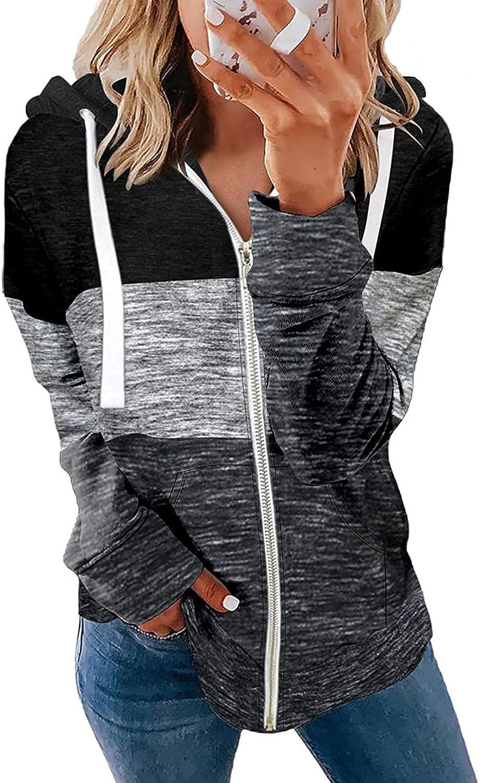 INNOVIERA Hoodies for WomenWomen Long Sleeve Hoodie Sweatshirt Tie Dye Print Tops Casual Loose Drawstring Zip Up Pullover Top