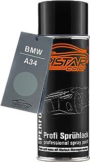 TRISTARcolor Autolack Spraydose für BMW A34 Arktis Metallic/Arctic Metallic Basislack Sprühdose 400ml