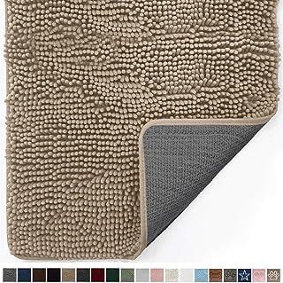 Gorilla Grip Original Indoor Durable Chenille Doormat, 30x20, Absorbent, Machine Washable Inside Mats, Low-Profile Rug Doormats for Entry, Mud Room, Back Door, High Traffic Areas, Beige
