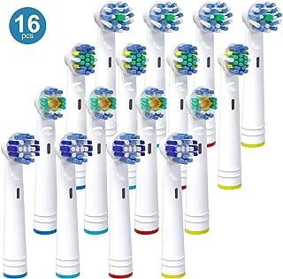 iTrunk Paquete 16 cabezales de cepillo de dientes para Oral b,cabezales de reemplazo Compatible con Oral b Pro700Pro5000Pro6500,incluyendo 4 Cross, 4 Precision Clean,4 Floss Action y 4 3D White