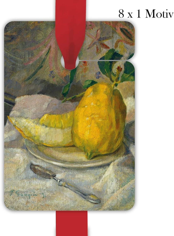 4x8 4x8 4x8 Gauguin Sommer Geschenkanhänger   Geschenkkarten   Papieranhänger   Hänge Etiketten   Tags, Format 6,9 x 10cm mit Melone und Zitrone B07NVJMH9T  | Auktion  959195