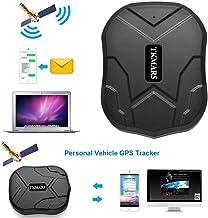 Hangang Localizador gps para coche , GPS Tracker APP / Sitio web posición en tiempo real Antirrobo GPS Localizador para Vehículos fuerte imán y 5000 mAh recargable impermeable GPS Tracker