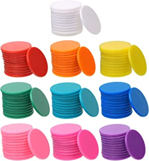 Shapenty 10 Colors Small Plastic Learning Counters Disks Bingo Chip Counting Discs Markers for MathPractice and Poker Chips Game Tokens with Storage Box, 25mm/1 Inch,120PCS