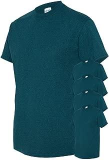 Men's Classic Heavy Cotton T-Shirt, Midnight, 2XL (Pack of 5)