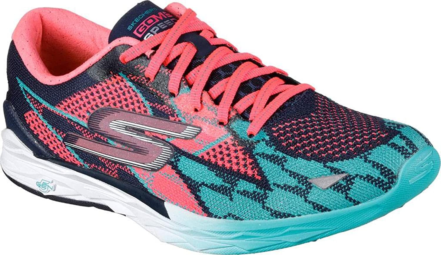 Skechers Women's GOmeb Speed 4 Racing shoes Navy Hot Pink Size 10 M