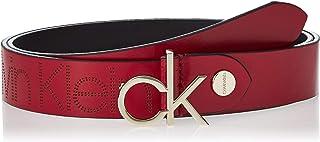 Calvin Klein Women's CK LOW ADJ 3.0 Belt, Red, 90 cm