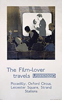 London Underground - The film - lover Vintage Poster (artist: Pears) England c. 1930 (12x18 Art Print, Wall Decor Travel Poster)