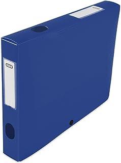 Elba 400094622 Boîte de classement à monter dos 40 mm polypropylène opaque 24 x 32 cm Bleu