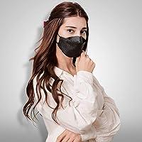 HappyLife Face Mask Made in Korea, Black Large (10pcs)