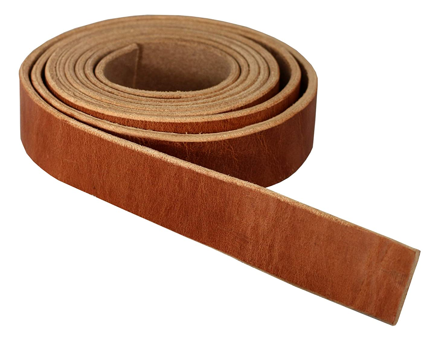 Premium Hermann Oak Harness Leather Blank Strap, 100% Leather Strip, 10 Ounce Weight [5/32