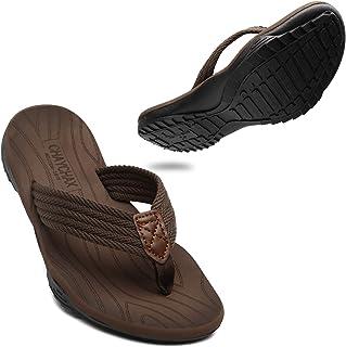 ChayChax Men's Flip Flops Outdoor Sports Thong Sandals Soft Non-Slip Beach Slippers